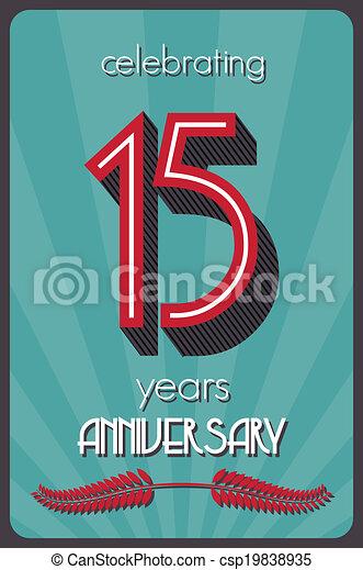 15 years anniversary  - csp19838935