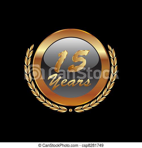 15 Years anniversary in gold  - csp8281749