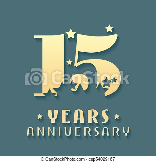 15 Years Anniversary Vector Icon Symbol Logo Graphic Design