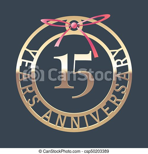 15 Years Anniversary Vector Icon Symbol Graphic Design Element Or