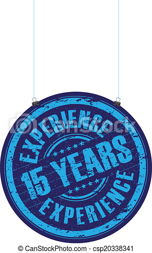 15 years experience stamp - csp20338341