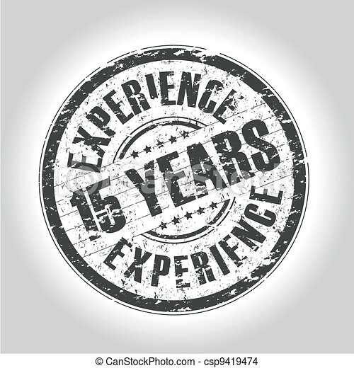 15 years experience stamp - csp9419474