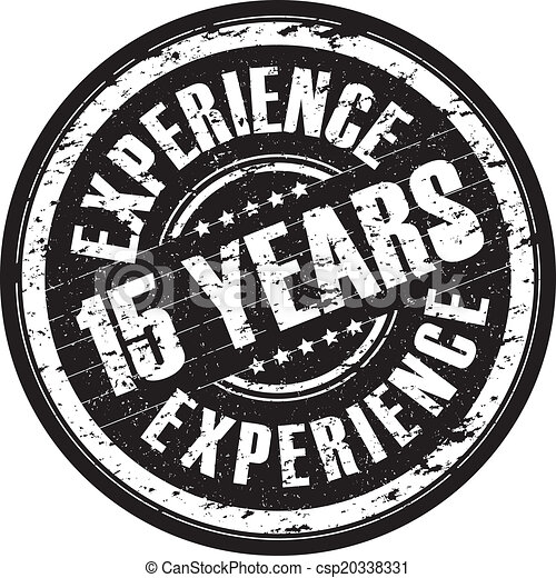 15 years experience stamp - csp20338331