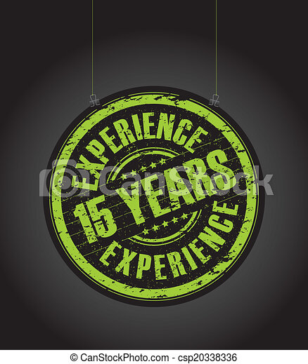 15 years experience stamp - csp20338336