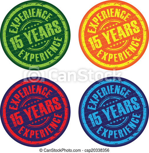15 years experience stamps - csp20338356