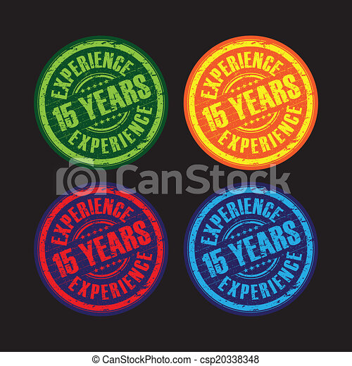 15 years experience stamps - csp20338348