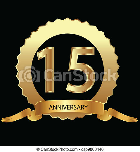 15th anniversary in gold seal  - csp9800446