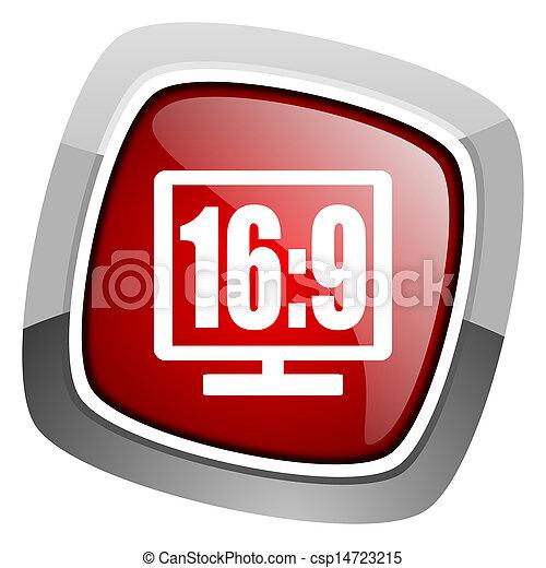 16 9 display icon - csp14723215