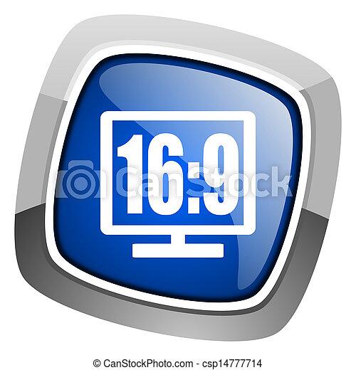 16 9 display icon - csp14777714