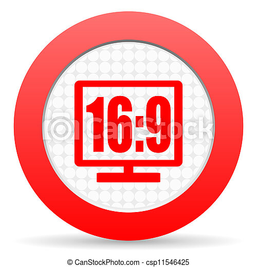 16 9 display icon - csp11546425