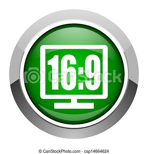 16 9 display icon - csp14664624