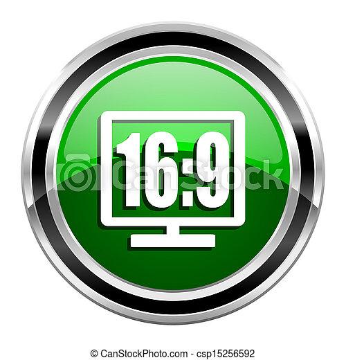 16 9 display icon - csp15256592