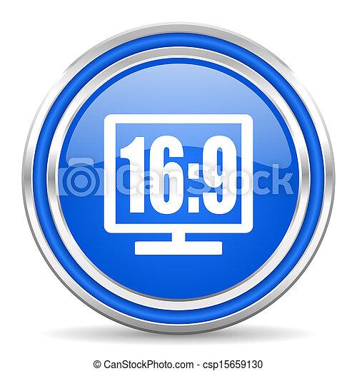 16 9 display icon - csp15659130