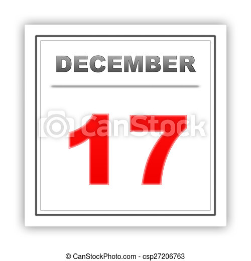 17 de diciembre. Día en el calendario. - csp27206763