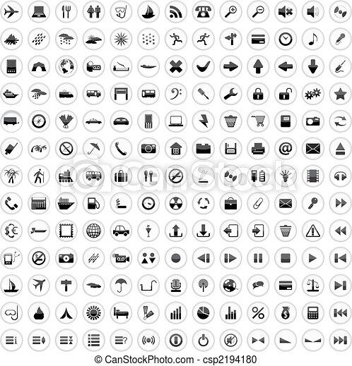 170, icônes, ensemble - csp2194180