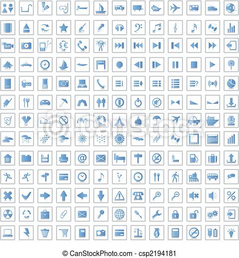 170, icone, set - csp2194181