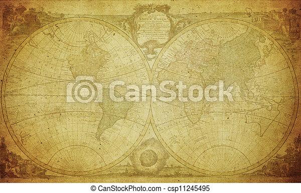 1744, vinobraní, mapa, společnost - csp11245495