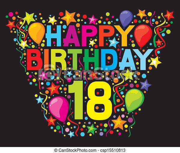 18, compleanno, felice - csp15510813