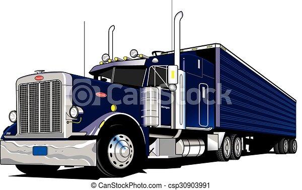 18 Wheeler Semi Truck 18 Wheel Semi Truck Tractor And Trailer
