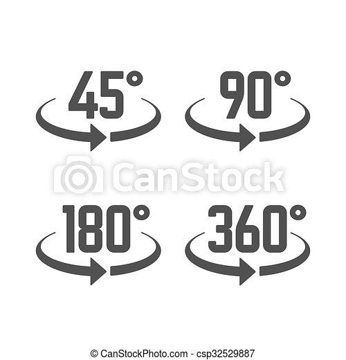 180 45 90 grados 360 vista iconos se al 180 45 for Cocinar a 90 grados