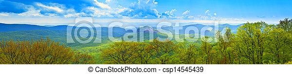 180 degree panoramic of great smoky mountains - csp14545439