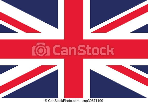 180 Degree Rotated Flag of  United Kingdom - csp30671199