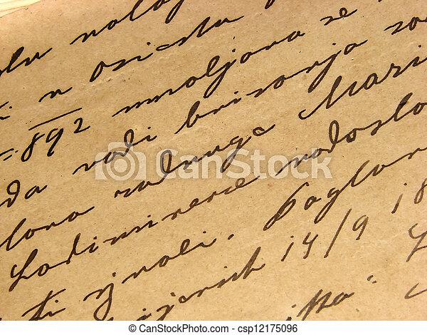 1892 vintage handwriting - csp12175096