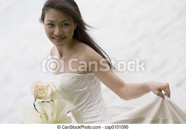 19, 花嫁, アジア人 - csp0101095
