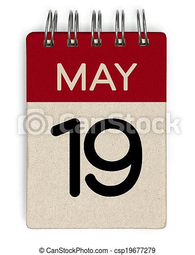 19, mai, calendrier - csp19677279