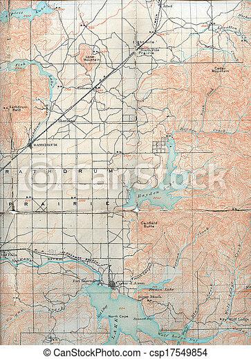 1903 Folded Map Of Rathdrum Prairie Idaho
