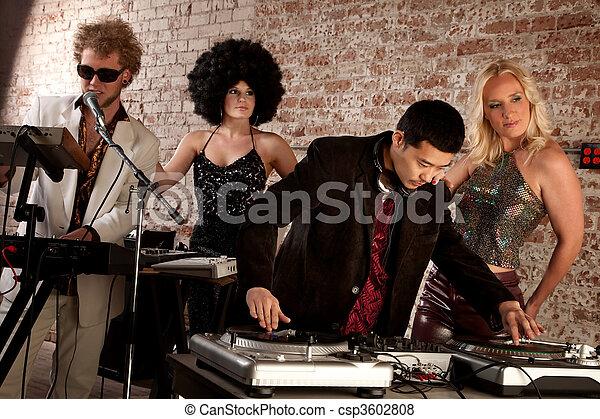 1970s Disco Music Party - csp3602808