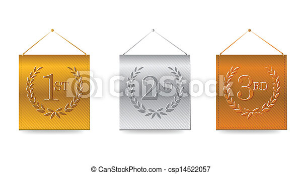 1st; 2nd; 3rd awards banners illustration - csp14522057