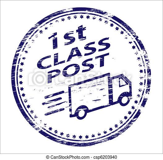 1st Class Post Stamp  - csp6203940