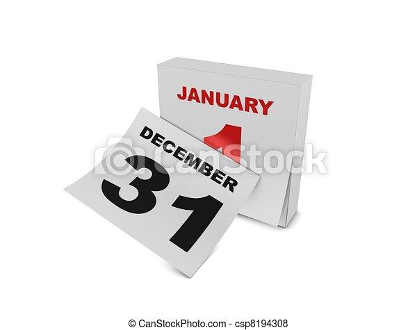 1st January - csp8194308