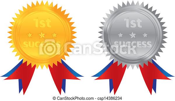 1st success gold silver coin - csp14386234