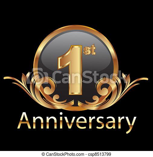 1st, viering, jubileum, eerst - csp8513799