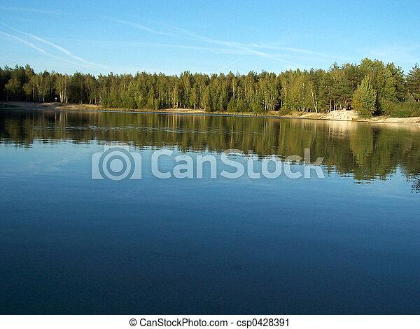 2, 森林, 湖 - csp0428391