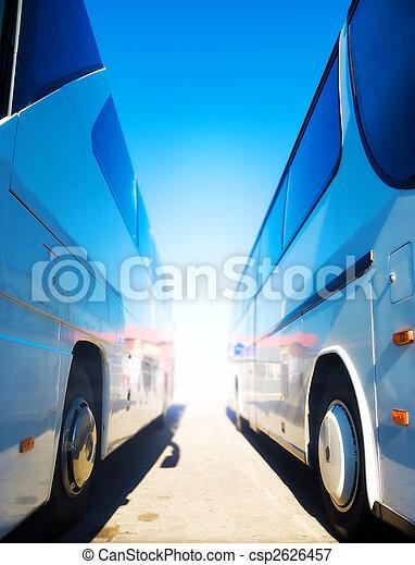 2, 観光客, バス - csp2626457