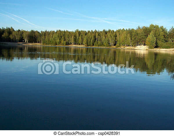 2, 숲, 호수 - csp0428391