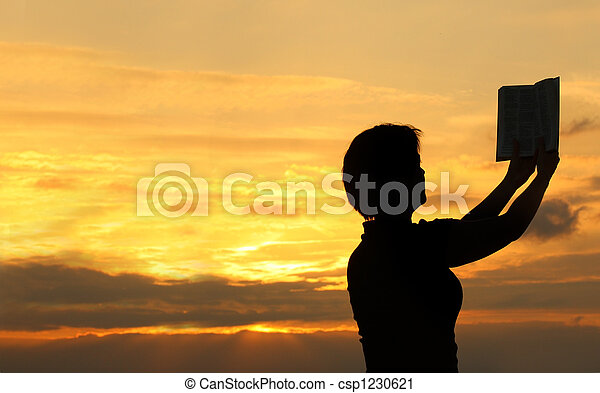 #2, biddend, vrouwlijk, bijbel - csp1230621