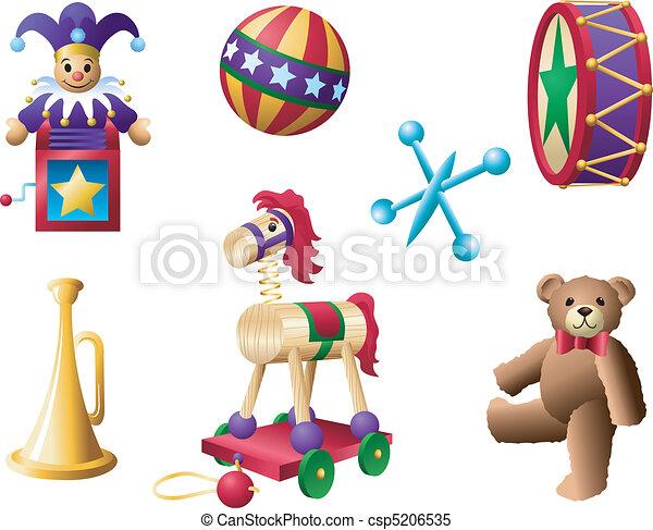 2, classique, jouets - csp5206535