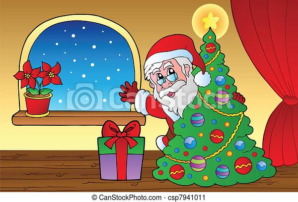 Santa Claus en la escena 2 - csp7941011