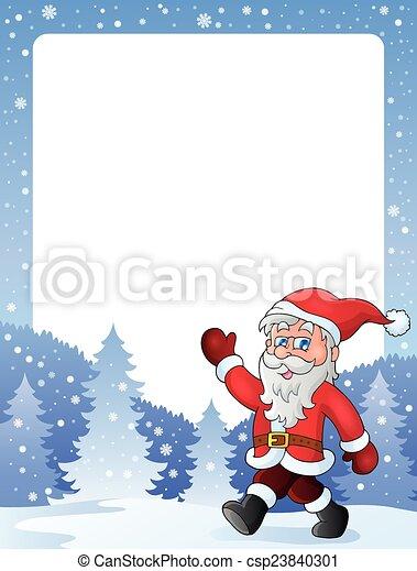 2, cornice, claus, tema, santa - csp23840301