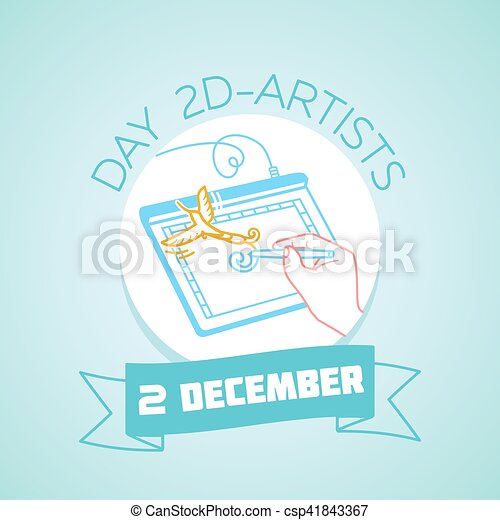 2 december day 2d artists calendar for each day on december 2 calendar for each day on december 2 greeting card holiday day 2d artists icon in the linear style m4hsunfo