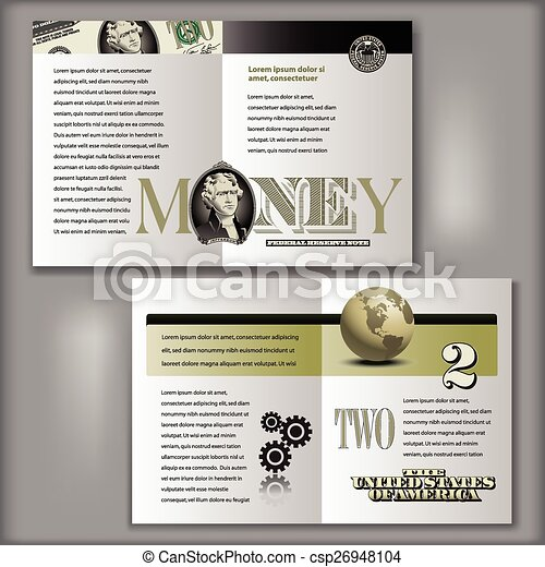 Dollar Bill Brochure Template Four Page Brochure Layout - Four page brochure template