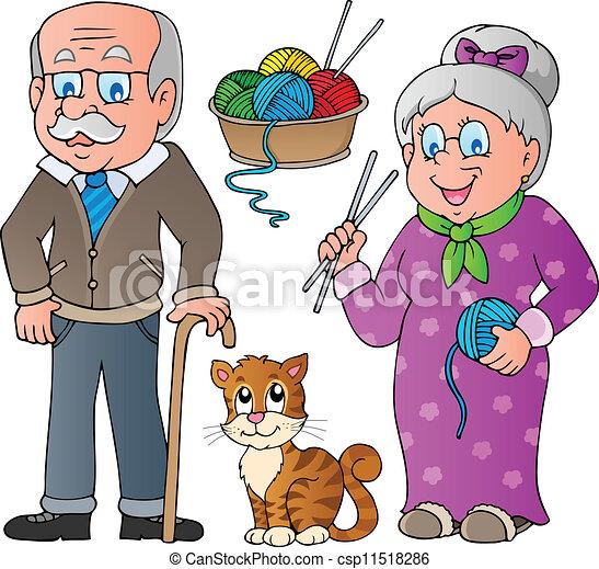2, gezin, verzameling, mensen - csp11518286