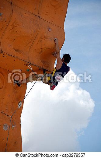 2, grimpeur, rocher - csp0279357