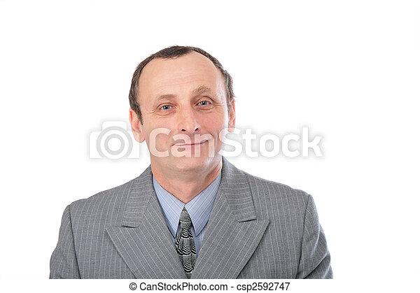 Hombre con traje gris 2 - csp2592747