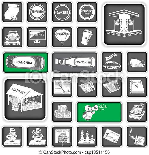 iconos de negocios 2 - csp13511156