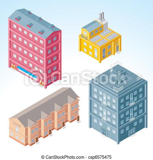 Edificios Isometricos 2 - csp6575475